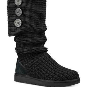 Ugg Classic Cardigan Black Boots Size 6